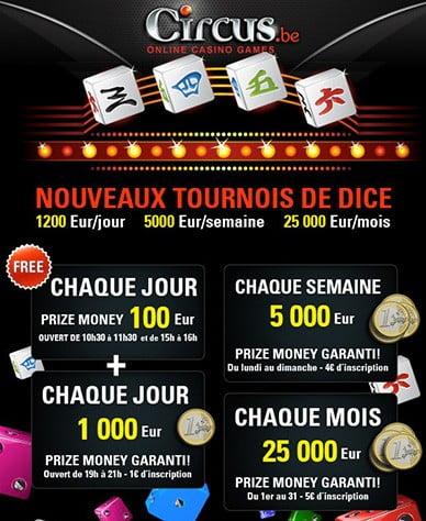 Circus.be Tournois de Dice